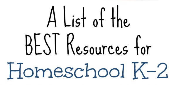 Frugal Homeschool Family Kindergarten 1st grade 2nd grade for Free at The Frugal Homeschooling Mom BEST list