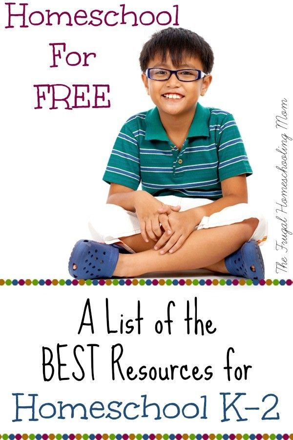 Frugal Homeschool Kindergarten 1st grade 2nd grade for Free at The Frugal Homeschooling Mom