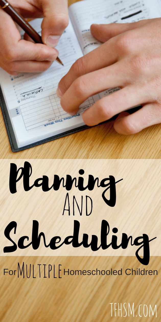 planning and scheduling for multiple homeschooled children free or frugal