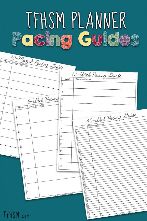 Homeschool Pacing Guide Template: Planning Your Own Course of Study