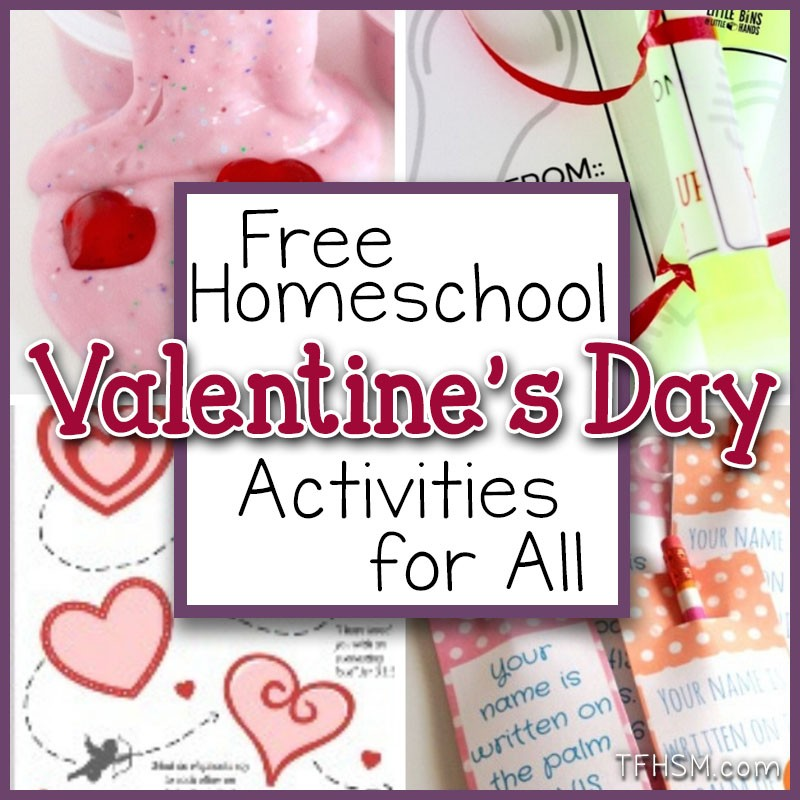 free Valentine's Day printables for homeschool s