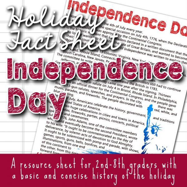 Fourth of July: Free Printables and Activities (Including Flag Day)