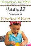 Pre-K Homeschool Curriculum Free