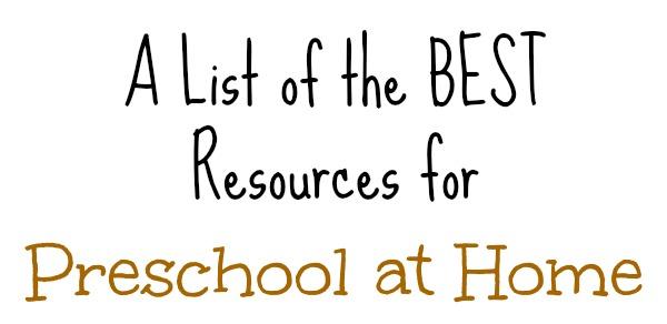 Homeschool Preschool PreK for Free at The Frugal Homeschooling Mom Best Resources