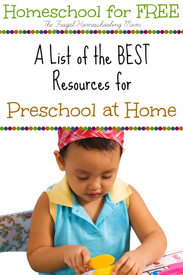 Ultimate List Homeschool Preschool PreK for Free at The Frugal Homeschooling Mom