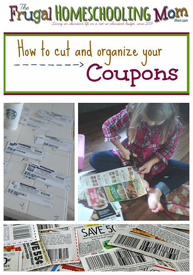 The Frugal Homeschooling Mom How to cut and organize your coupons