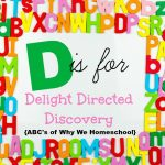 ABCs of Why We Homeschool I D is for Delight Directed Discovery