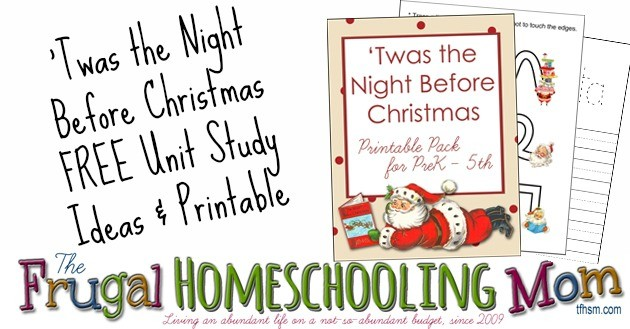 tfhsm Twas the Night Before Christmas free homeschool printable unit study f