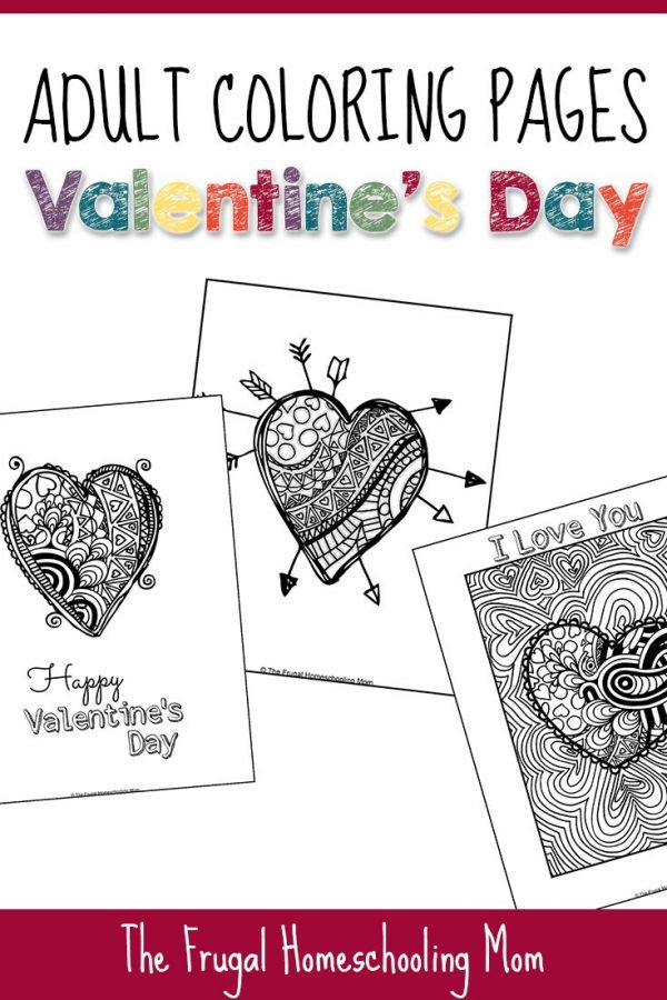 Free Adult Coloring Pages for Valentine's Day