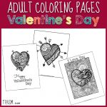Free Adult Coloring Pages for Valentine's Day s