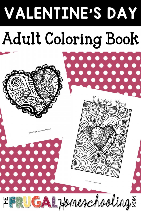 Free Valentine's Day Coloring Pages for Adults