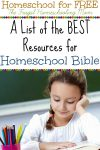 Homeschool Bible Printables and Resources for Free at The Frugal Homeschooling Mom