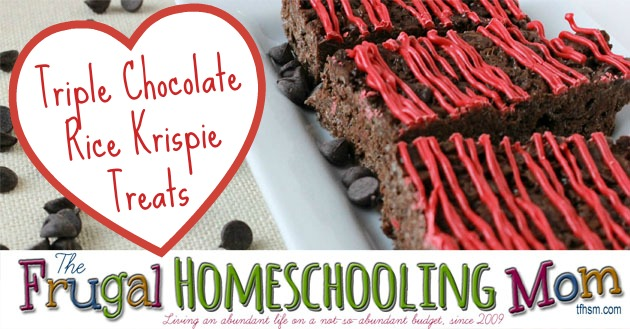 Triple Chocolate Rice Krispie Treats Nut Free Peanut Free Recipe The Frugal Homeschooling Mom