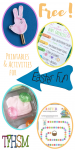 Free homeschool family printables unit study and activities for Easter from The Frugal Homeschooling Mom p