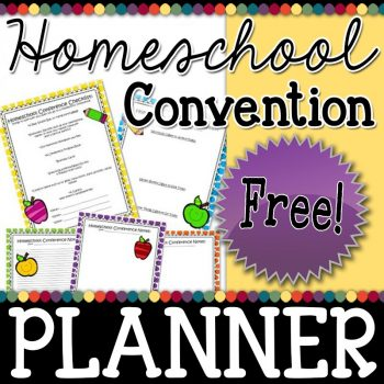 Homeschool Conference Planning Sheets - first edition
