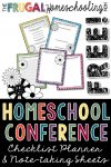 Free Printable Homeschool Convention Planner, Checklist, and Note-taking Sheets