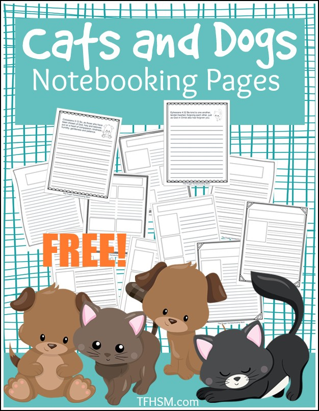 Cats and Dogs Notebooking Pages copyright TFHSM p