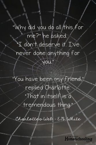 Charlotte's Web Quote EB White - friendship quote