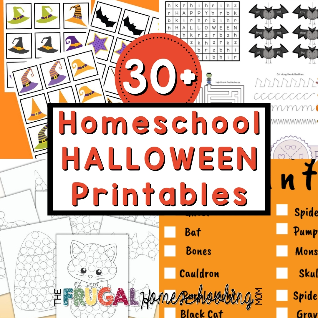 Free Homeschool Halloween Printables