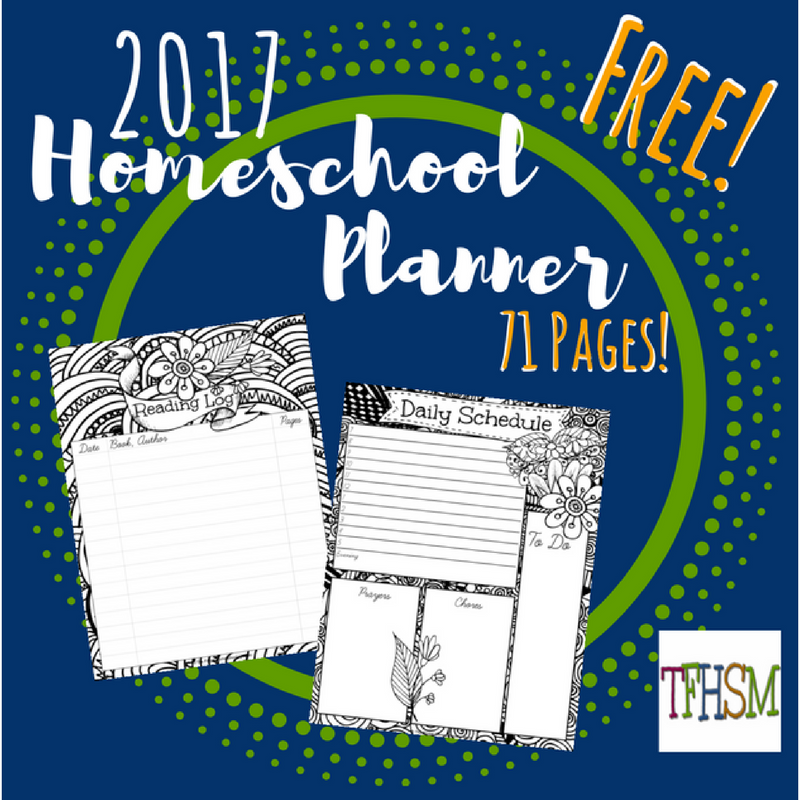 2017 Free Homeschool Planner from The Frugal Homeschooling Mom TFHSM i