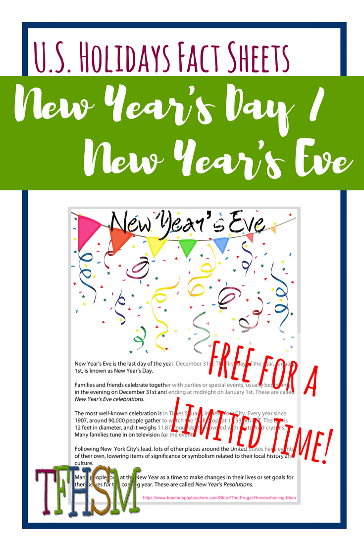 free homeschool printables copywork lapbooking for new years eve day