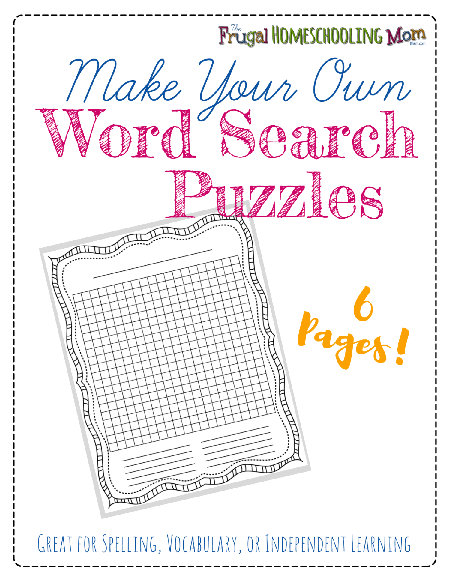free make your own printable wordsearch puzzles the frugal