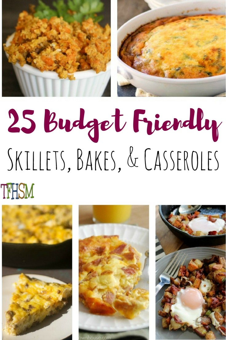 Frugal Homeschool Family skillets bakes and casseroles recipes