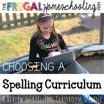 Choosing a Spelling Curriculum