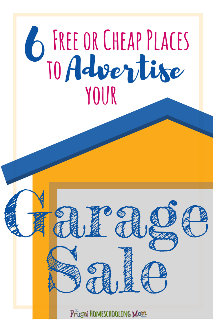 6 cheap or free places you can advertise your garage sale the