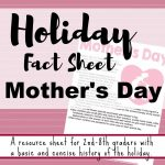 Mother's Day fact sheet printable