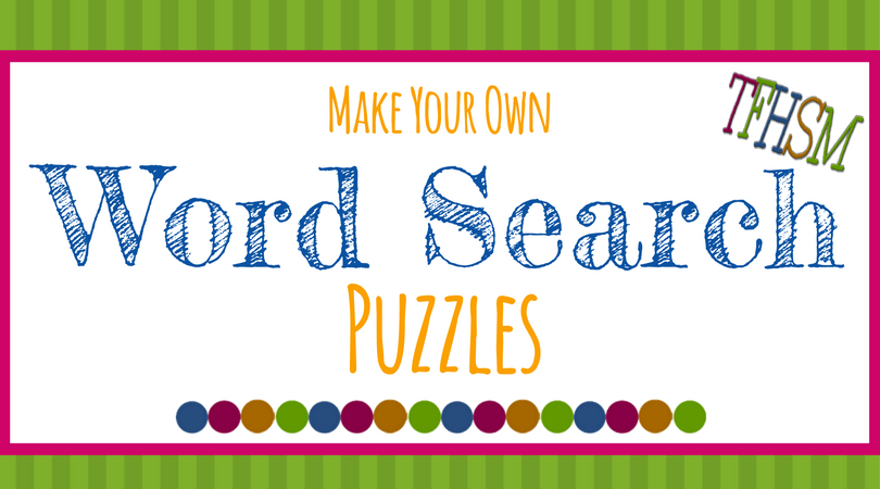 Free make your own printable wordsearch puzzles the for Free home search