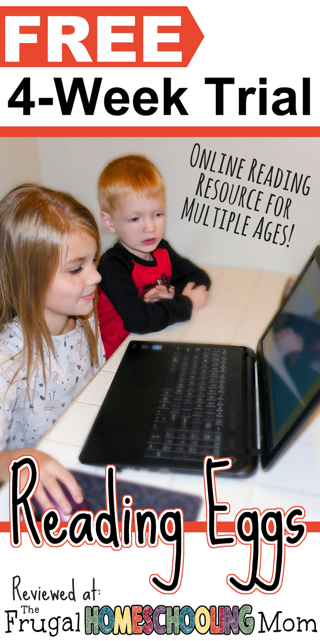 Free 4 week trial of Reading Eggs Online Homeschool Reading Curriculum for multiple ages - The Frugal Homeschooling Mom 2