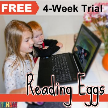 Free 4 week trial of Reading Eggs Online Homeschool Reading Curriculum for multiple ages - The Frugal Homeschooling Mom square