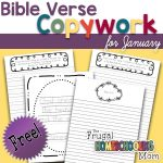 Free Bible Verse Copywork Pages for January New Beginnings by TFHSM s