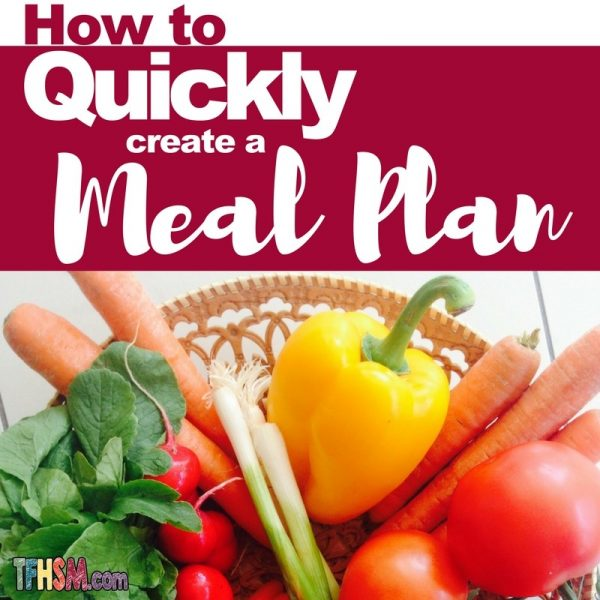 how to quickly create a meal plan s