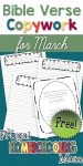 Free Spring Bible Verses Copywork Pages for March by TFHSM s