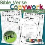 Free Bible Verse Copywork Pages for March Spring by TFHSM s