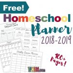 Free printable homeschool planner calendar from The Frugal Homeschooling Mom 2018-2019 s