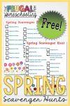 Free Spring Scavenger Hunt Printable for Kids