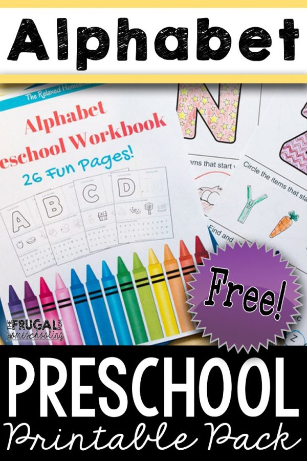 Free Alphabet Worksheets for Preschool