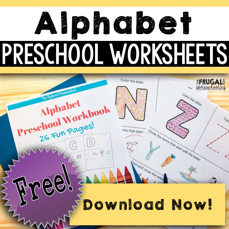Free Alphabet Worksheets For Preschool - Download NOW