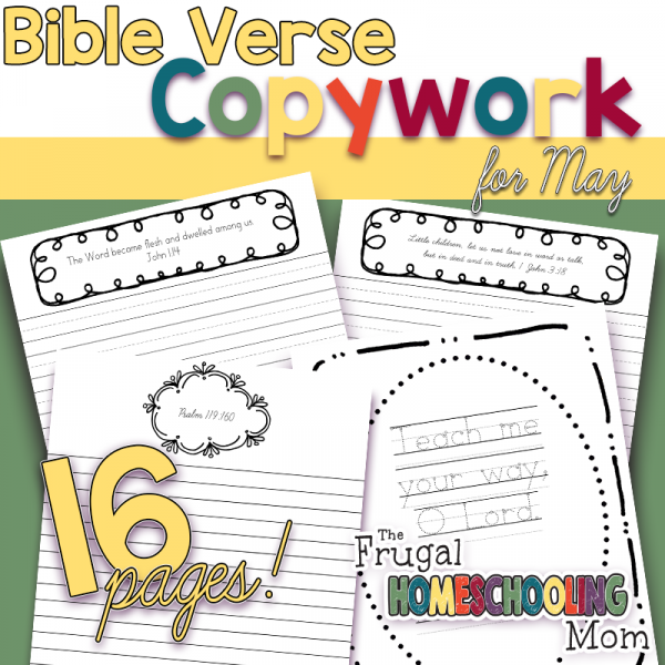 Bible Verses about Truth: Homeschool Copywork Pages for May