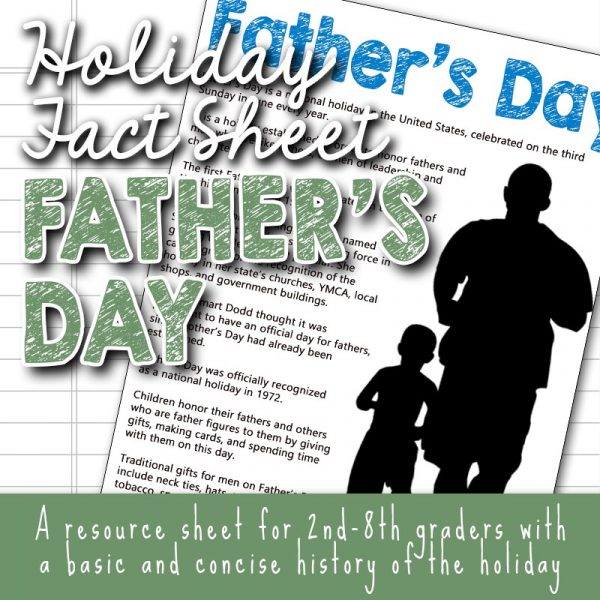 Free Father's Day Background Information and Unit Study Ideas