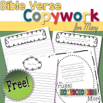 Free Bible Verse Copywork Pages for May Truth by TFHSM s