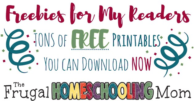 Free Printables for Homeschool Families at The Frugal Homeschooling Mom