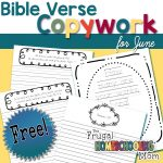 Free Bible Verse Copywork Pages for June Nature by TFHSM s