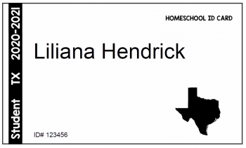 Editable PDF Homeschool ID Cards 01