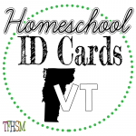 Homeschool ID Cards - Vermont