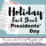 02 22 Presidents' Day Fact Sheet - History for Kids