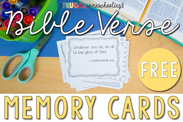 Free Bible Verse Memory Cards
